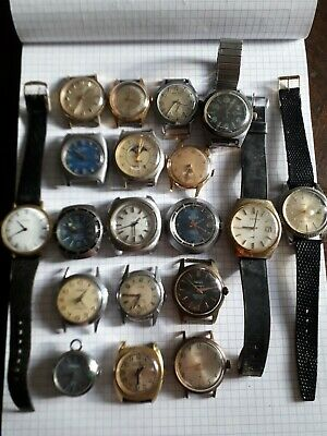 Lot of old men's watches for mechanical parts