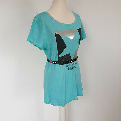 Trendy Arizona shirt in turquoise, black & silver size.  38 Great condition