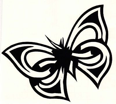 TRIBAL BUTTERFLY, VINYL Car Decals Window Stickers Vehicle