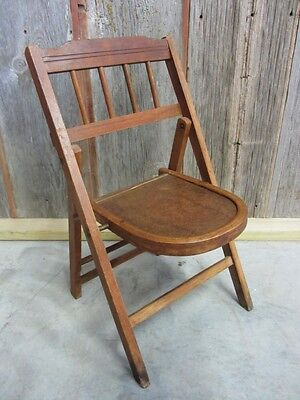 vintage wooden chairs safavieh dining folding chair antique table stand old stool rare 7039