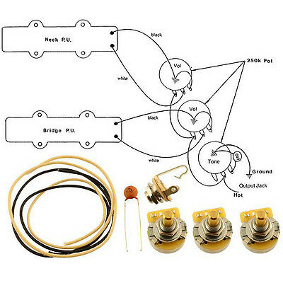 music instrument precision bass wiring kit