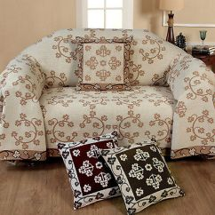 100 Cotton Sofas Red Sofa Area Rug Chenille Floral Cover Bed Throw 1 2 3 Seater Cream Choco Wine
