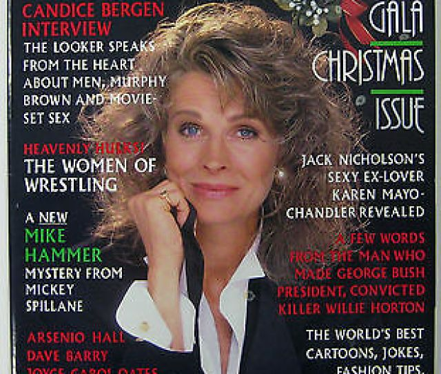 Playboy Magazine December 1989 Petra Verkaik Candace Bergen Interview Women Of W