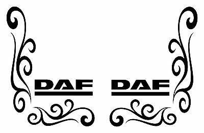DAF STYLE TRUCK lorry cab side window decals/stickers CF