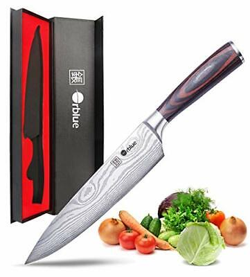 professional kitchen knives roll up cabinet doors new orblue chef s knife 8 inch stainless steel cutlery
