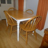 Pine Kitchen Table & Chairs  16.00 - PicClick UK