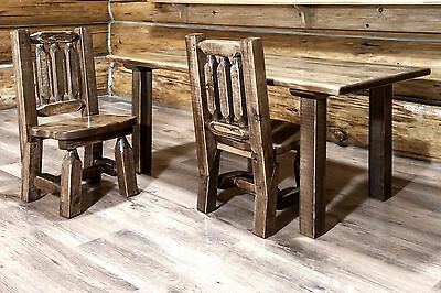 toddler table chairs gray chair covers for weddings wooden kids set amish made rustic tables and two