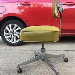 Steelcase Vintage Chair Chicco 360 Hook On Tanker Office Swivel Bassick Caster Industrial Green