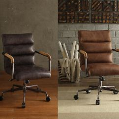 Harith High Back Leather Executive Chair Sling Outdoor Fabric Acme Retro Brown Antique Ebony Office Swivel