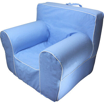 anywhere chair insert black wood chairs for pottery barn with light blue cover fits regular size