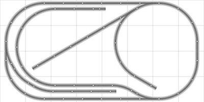 CRAZY MODEL TRAINS Bachmann E-Z Track Layout Plans for One