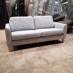 Delta Sofa Debenhams Extra Firm Foam Connor 2 Seater Button Back Armchair Blue On Display Carnaby 3 Romario French Grey Brand New