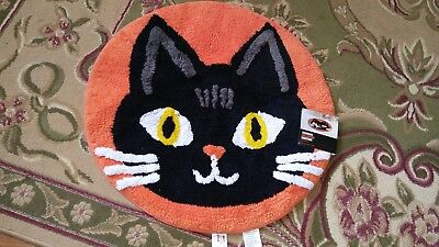throw rug black cat