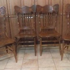 Antique Oak Dining Chairs Officeworks Stool Carved With Celtic Dragons 4 Of Set