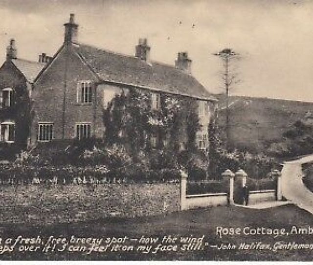 Amberley Rose Cottage With John Halifax Quote Ppc Pub By J L Shipway Used 1935