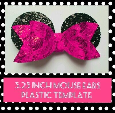 3 25 Inch Minnie Mouse Ears Plastic Hair Bow Template Holiday Bow 4 00 Picclick Uk