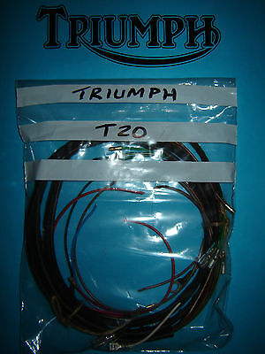 triumph tiger cub wiring harness to fit lucas 88sa twin switch model