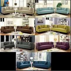 Glam Sofa Set Dog Wear Kevin Jumper Modern Living Room 2 Piece Loveseat Couch Silver Transitional Style Pcs In 7 Color