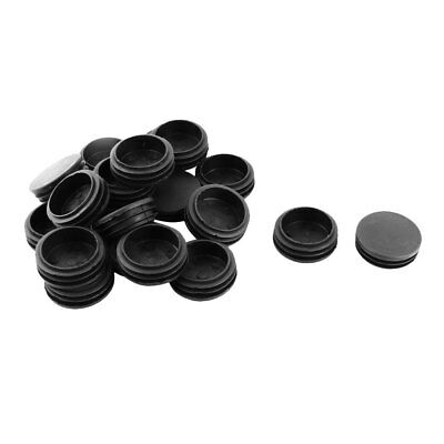 chair leg caps vintage high plastic round flat type table tube insert black 48mm dia 20pcs