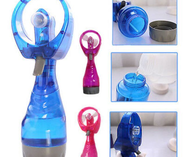 Handheld Portable Water Spray Fashion Battery Operated Cooling Mist Fan