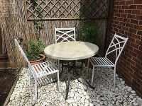 Outside Table And Three Chairs Garden Set  50.00 ...