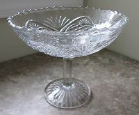 vintage glass fruit bowl  3.00