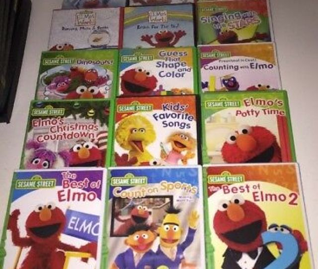 Lot Of  Sesame Street Count On Sports Elmos World Summer Vacation