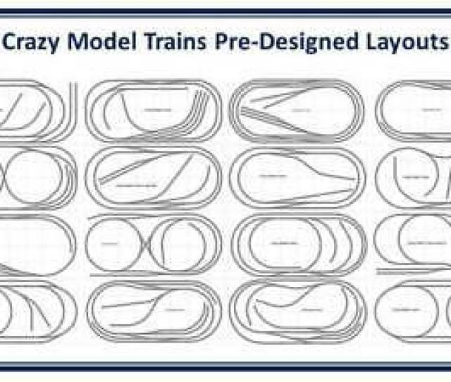 Crazy Model Trains Bachmann E Z Track Layout Plans For One Layout
