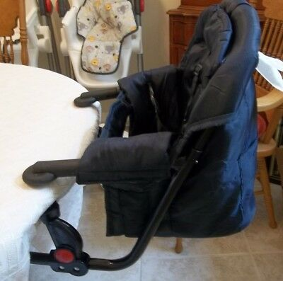 regalo portable high chair wicker lounge easy diner hook on highchair in navy great for feeding seat padded booster