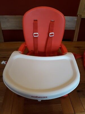 mothercare travel high chair booster seat tables and chairs cohoes delux folding tray red portable