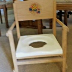 Wooden Potty Chair Covers For Sale Melbourne Vintage Folding Child S Nu Line Frame Plastic Seat