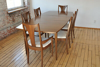6 chair dining set marble patio table and chairs broyhill brasilia mid century 1 800 00