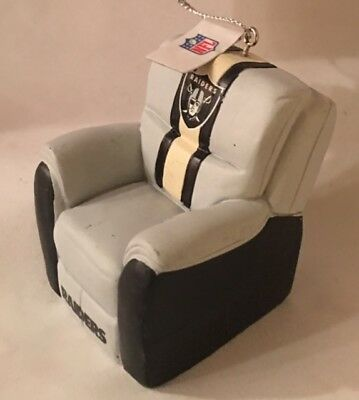 oakland raiders chair lazy boy leather chairs reclining christmas tree holiday ornament free usa ship