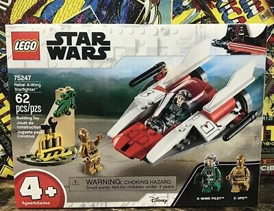 Lego Star Wars Rebel A Wing Starfighter With A Wing Pilot C 3po 75247
