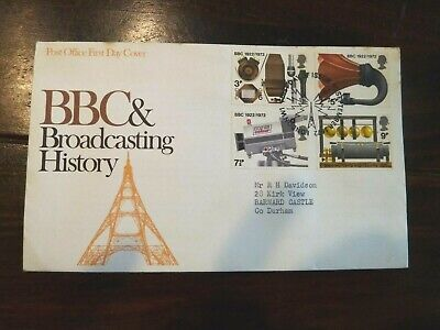 GB First Day Cover BBc & Broadcasting History 13 September 1972