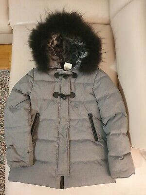 ELSY baby down coat with real fur gray black ital size A7 6-8 years girl
