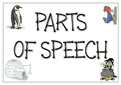 PARTS OF SPEECH POSTERS ENGLISH GRAMMAR SPaG Teaching