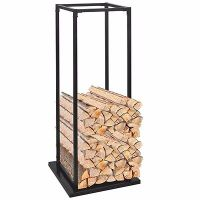 WOOD Log Storage Fireplace Firewood Store Logs Solid ...