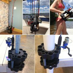 Fishing Chair Brackets Lifetime Chairs Warranty Boat Seat Umbrella / Rod Holder Outdoors Saltwater Trout Sport Pontoon - $44.99 | Picclick