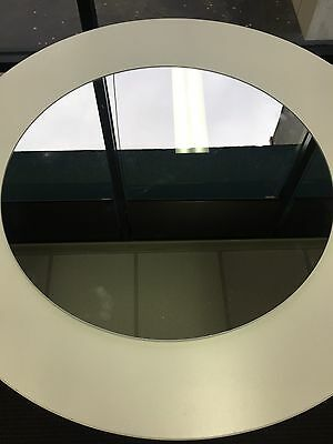 Round Feature Mirror Frameless Flat 600 Bathroom NEW Modern Style SECONDS SALE  AUD 099