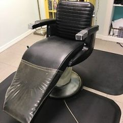 Belmont Barber Chair Parts Canada Fishing Lightweight Vintage With Headrest And Ashtray Awesome Takara W Electric Base Made In Japan