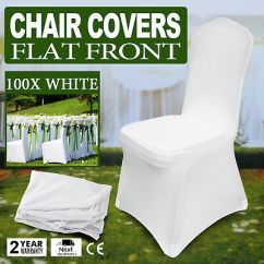 White Folding Chair Covers Camp Reviews 100pcs Stretch Spandex Seat Chairs Universal
