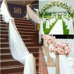 Diy Organza Chair Covers Wheelchair Leg Support 33ft 10m Backdrop Gauze Curtain Cover Wedding Party Decoration