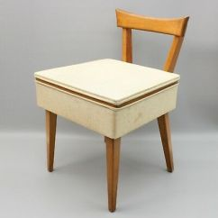 Antique Sewing Chair Unfinished Wooden Chairs Canada Vintage Machine Cabinet Desk Bench Storage Box Vinyl Seat