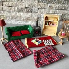 Cosy Living Room With Log Burner Contemporary Table Lamps Sylvanian Families Set Flair Rare Htf Furniture