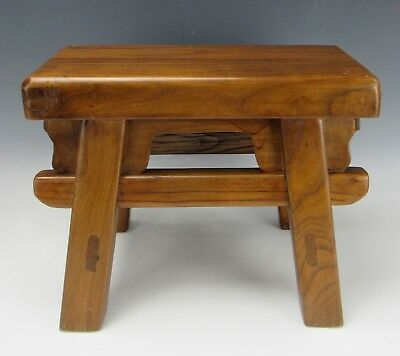 stool chair in chinese sit to stand exercise a antique style hard wood 4 leg 12 h 119 99