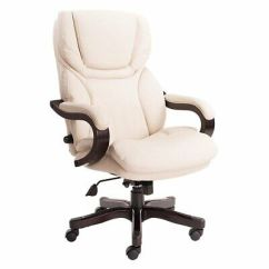 Serta Bonded Leather Executive Chair Nichols Stone Rocking Value 43520 Brown 183 34 Picclick Big And Tall Office In Ivory