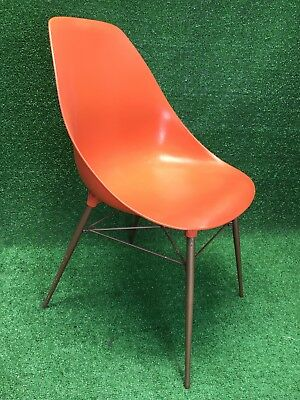 mid century modern plastic chairs folding tables and set molded chair by sam avedon alladin orange rare wow