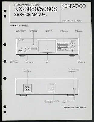 SERVICE MANUAL INSTRUCTIONS for Kenwood Ax-43, Original