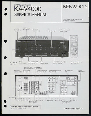KENWOOD KA-3080R ORIGINAL Stereo Amplifier Service-Manual